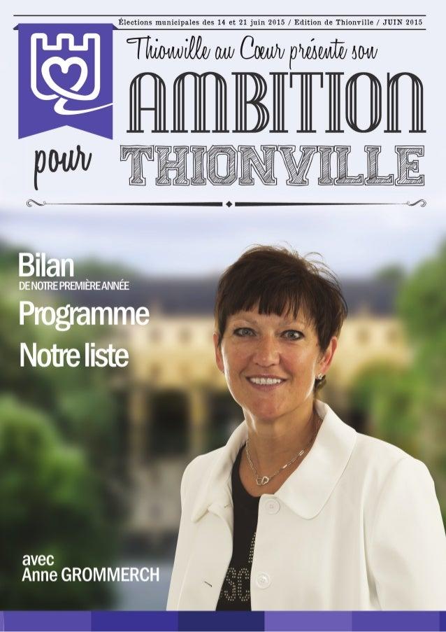 Programme et bilan Thionville au Coeur 2015