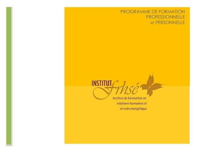 gvb PROGRAMME DE FORMATION PROFESSIONNELLE et PERSONNELLE