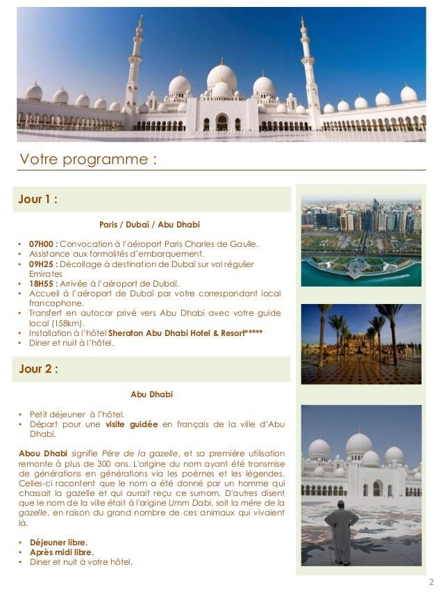 Programme voyage Dubai Slide 2
