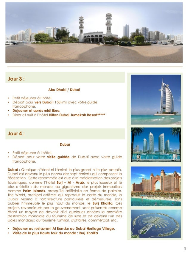 Programme voyage Dubai Slide 3