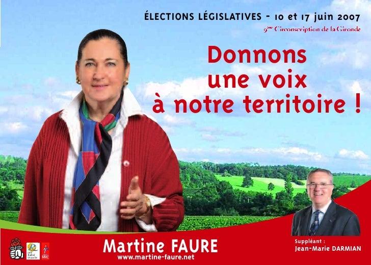 ÉLECTIONS LÉGISLATIVES - 10 et 17 juin 2007                                9ème Circonscription de la Gironde             ...