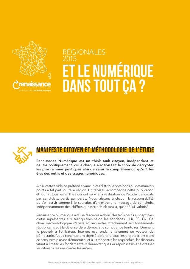 Renaissance Numérique – décembre 2015 | (cc) Attribution - Pas d'Utilisation Commerciale - Pas de Modification Manifeste c...