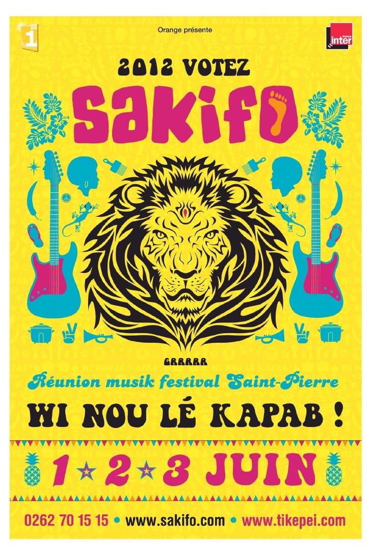 Programme Sakifo 2012
