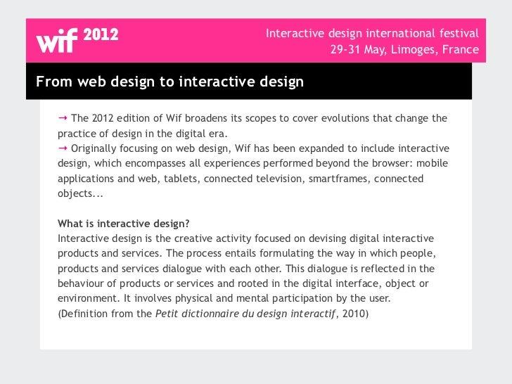Wif, Interactive design international festival, programme Slide 3