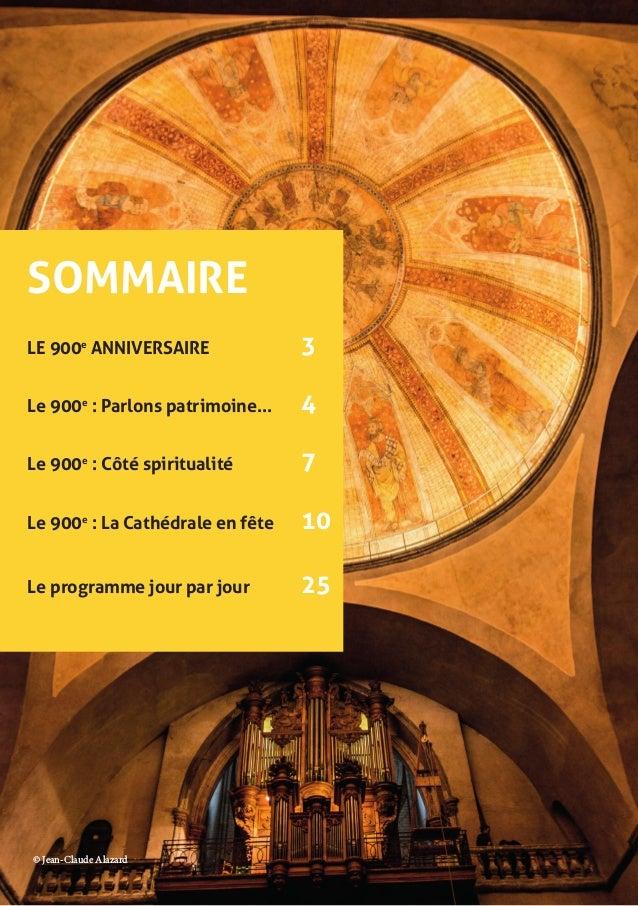 Le programme du 900e anniversaire ! Slide 2