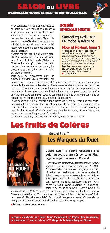 SALON DU LIVREDEXPRESSION POPULAIRE ET DE CRITIQUE SOCIALE Nour, éducatrice, est fille d'un des soixante-     SOIRÉE dix m...