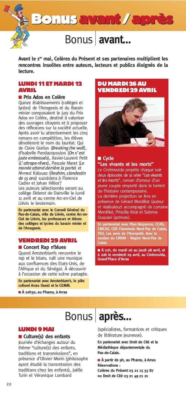 Bonus avant / après                                   Bonus avant…     Avant le 1er mai, Colères du Présent et ses partena...