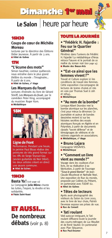 Dimanche 1er mai     Le Salon heure par heure16H30                                     TOUTE LA JOURNÉECoups de cœur de Mi...