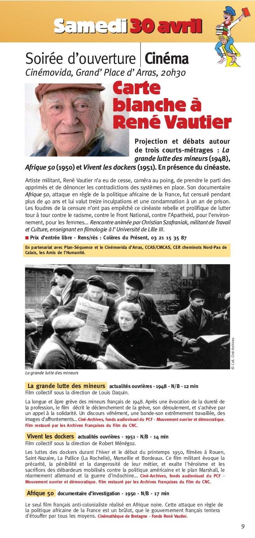 Samedi 30 avrilSoirée d'ouverture CinémaCinémovida, Grand'Place d'Arras, 20h30                                            ...