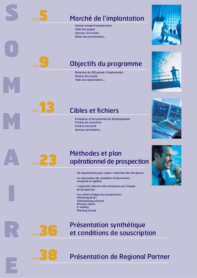 S  page  5  Volume annuel d'implantations Taille des projets Secteurs d'activités Délais de concrétisation…  O page  9  Ob...