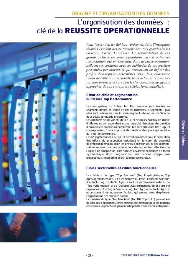 ORIGINE ET ORGANISATION DES DONNEES  L'organisation des données : clé de la REUSSITE OPERATIONNELLE Pour l'essentiel, les ...