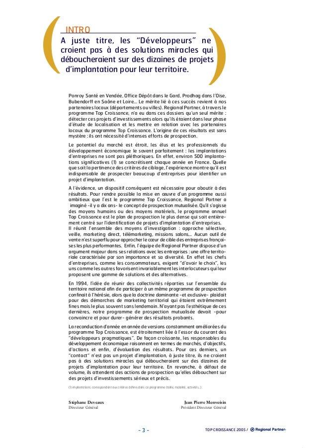 """(  )  INTRO  A juste titre, les """"Développeurs"""" ne croient pas à des solutions miracles qui déboucheraient sur des dizaines..."""
