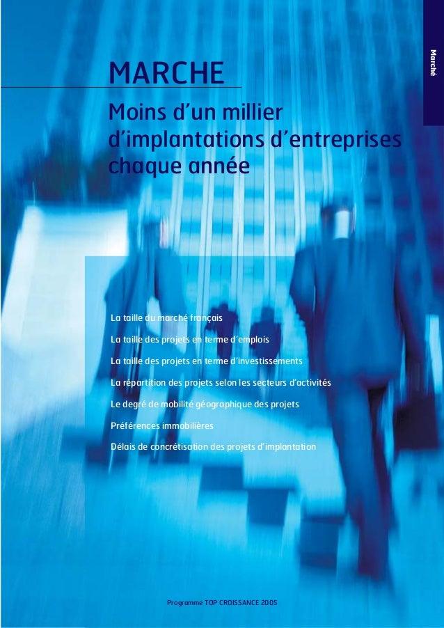 Moins d'un millier d'implantations d'entreprises chaque année  La taille du marché français La taille des projets en terme...