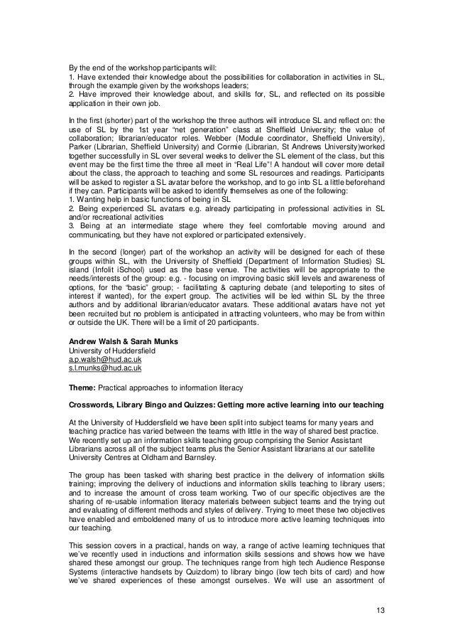 LILAC Programme 2008