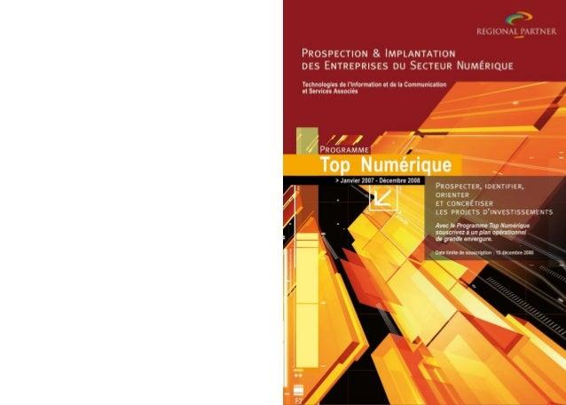 Sommaire  2007-2008 « Un programme de grande ampleur centré sur des objectifs opérationnels : la prospection et l'implanta...