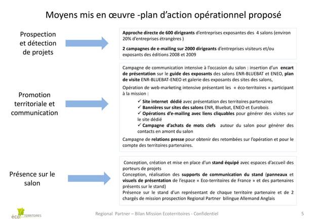 Moyens mis en œuvre -plan d'action opérationnel proposé Prospection et détection de projets  Approche directe de 600 dirig...
