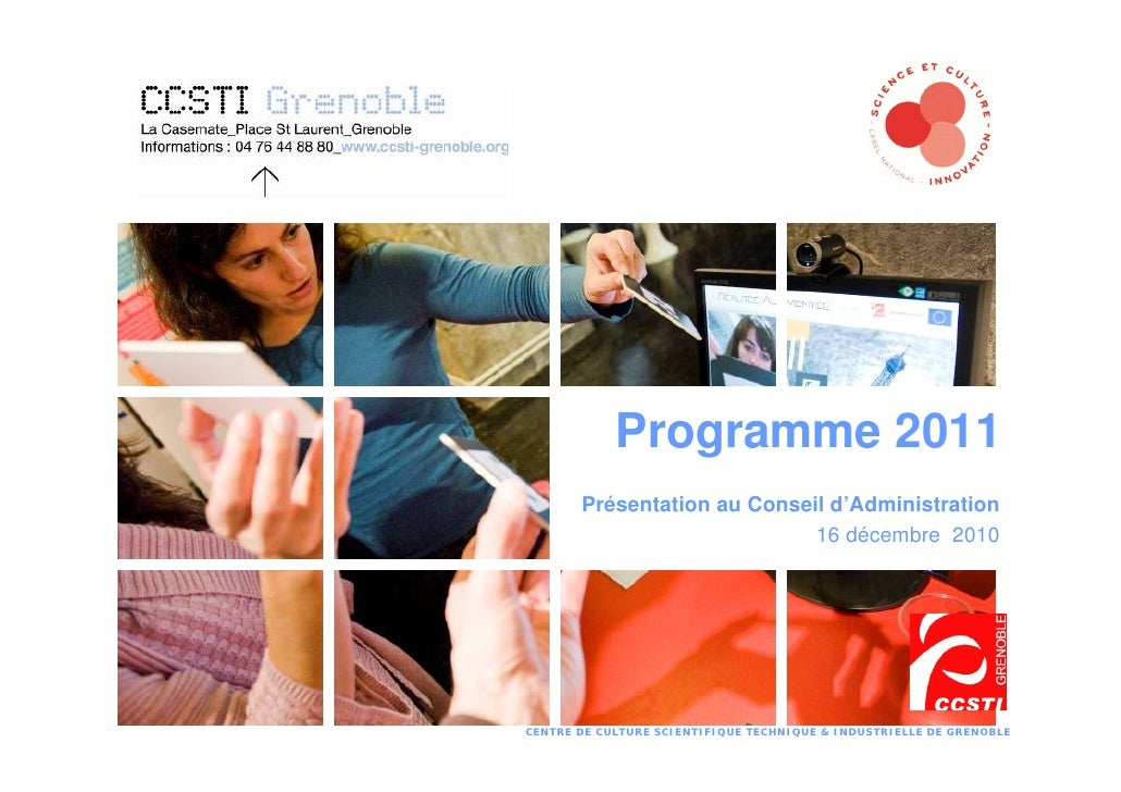 Programme 2011 Présentation au Conseil d'Administration 16 décembre  2010
