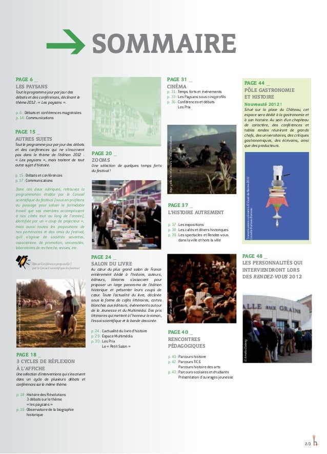 SOMMAIRE page 44 _ PÔLE GASTRONOMIE ET HISTOIRE Nouveauté 2012 ! Situé sur la place du Château, cet espace sera dédié à la...