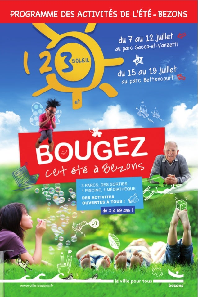 PROGRAMME DES ACTIVITÉS DE L'ÉTÉ - BEZONS