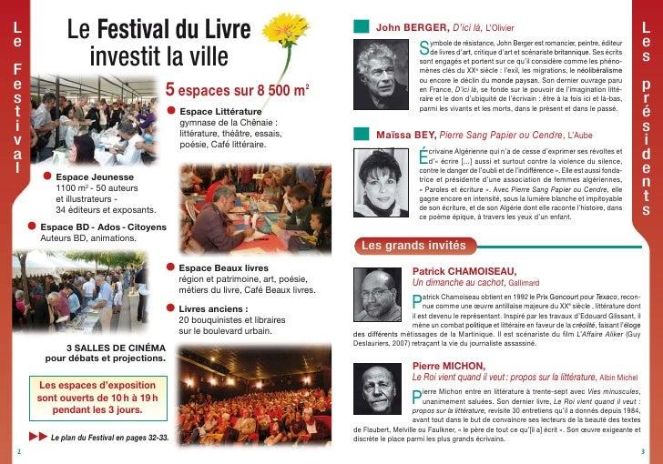 Programme 21e festival du livre de mouans sartoux - Salon du livre mouans sartoux ...