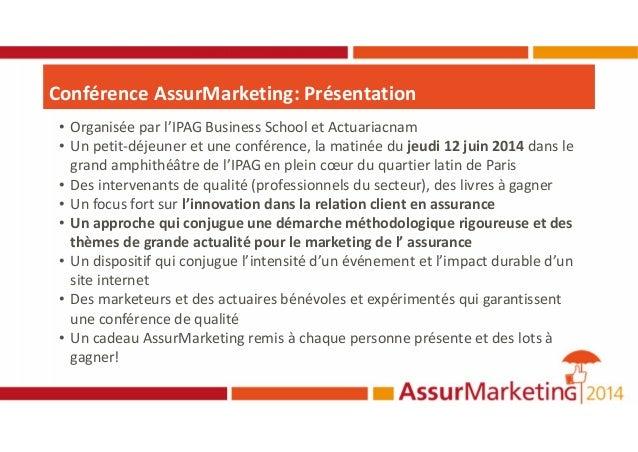 Programme assur marketing2014_29-05-2014 Slide 3