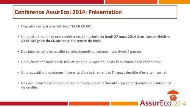 Programme Conférence AssurEco|2014 Slide 3