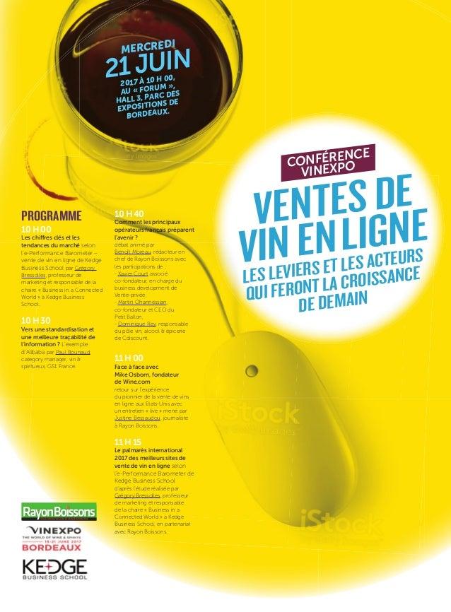 10H00 Les chiffres clés et les tendances du marché selon l'e-Performance Barometer – vente de vin en ligne de Kedge Busine...