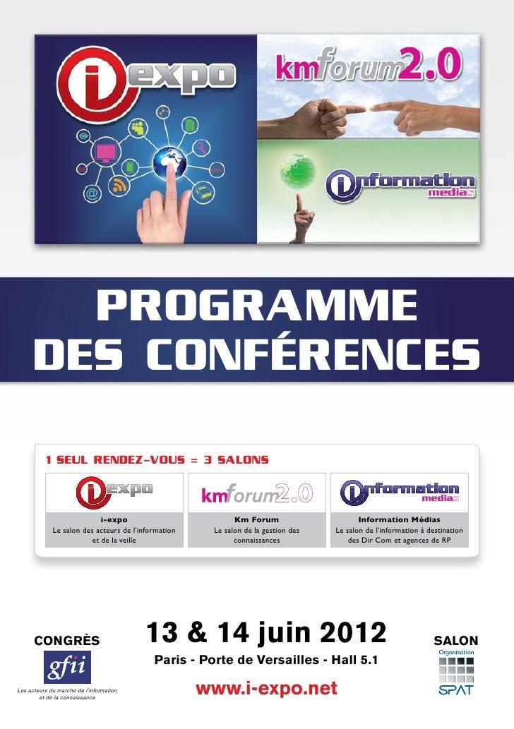 Programme congres i expo 2012 - Programme des salons porte de versailles ...