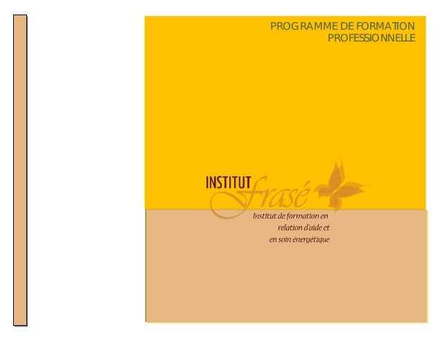 pvb   PROGRAMME DE FORMATION              PROFESSIONNELLE