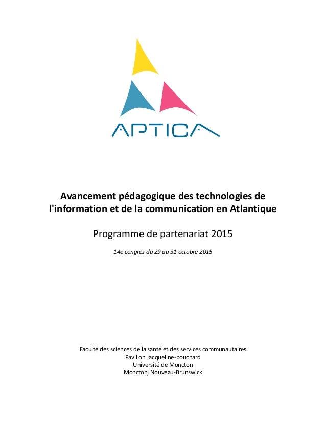 Avancement  pédagogique  des  technologies  de   l'information  et  de  la  c...