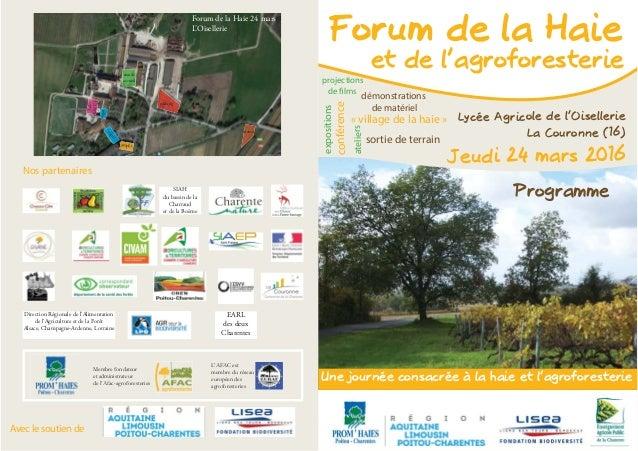 Nos partenaires Avec le soutien de stands accueil parking démo Salles C0/C1 expo expo amphi Forum de la Haie 24 mars L'Ois...