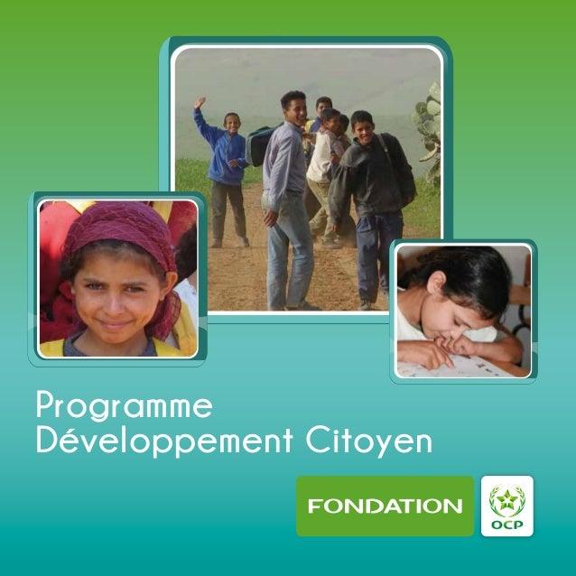 ProgrammeDéveloppement Citoyen