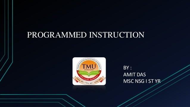 programmed instruction