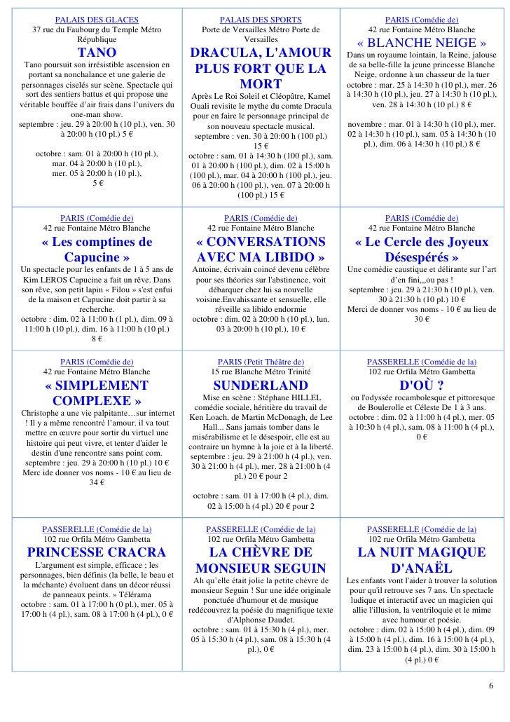 Programme du 29 septembre - Palais des sports porte de versailles ...