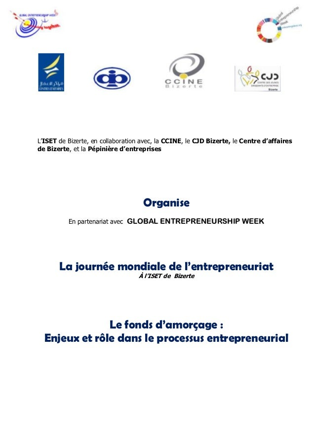 L'ISET de Bizerte, en collaboration avec, la CCINE, le CJD Bizerte, le Centre d'affairesde Bizerte, et la Pépinière d'entr...