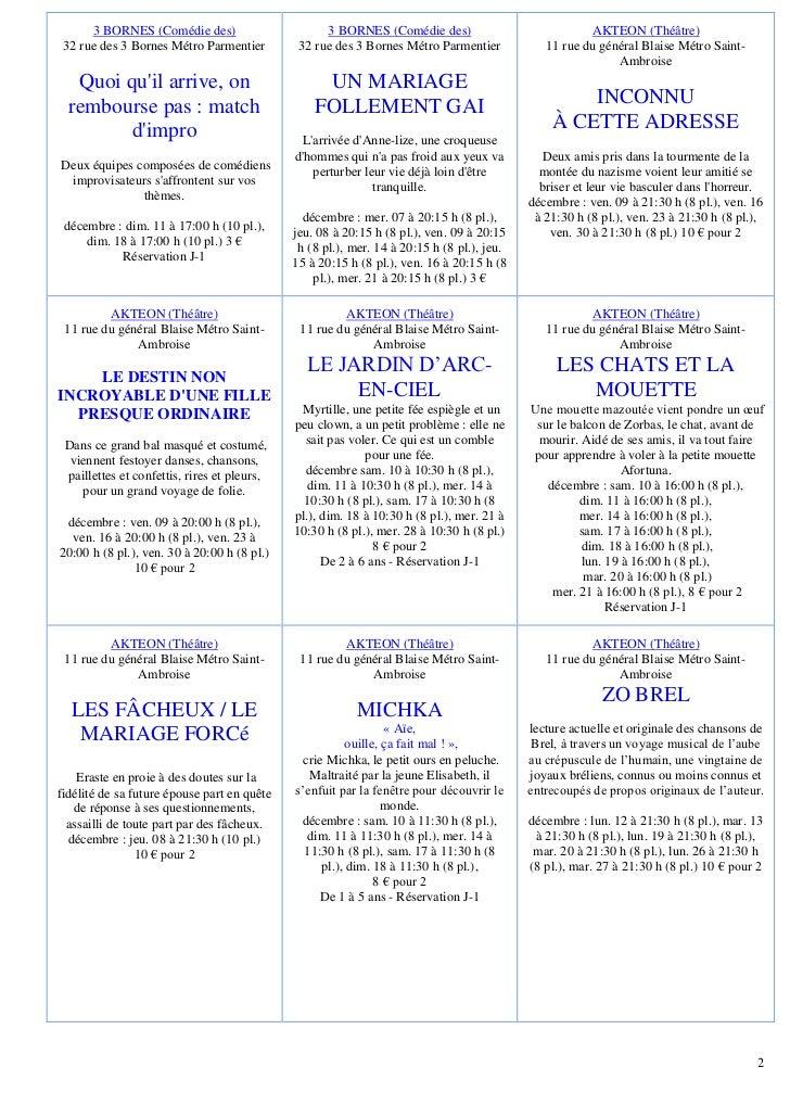 3 BORNES (Comédie des)                       3 BORNES (Comédie des)                             AKTEON (Théâtre) 32 rue de...