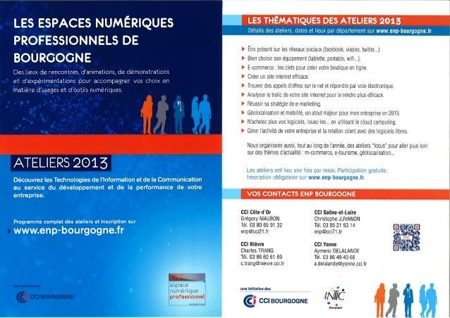 Le programme des ENP de Bourgogne 2013