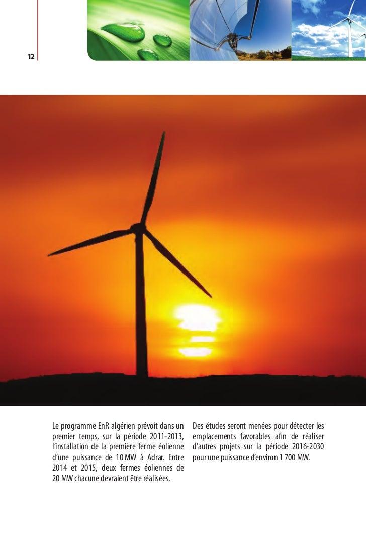 Programme des énergies renouvelables et de l'efficacité énergétique   13Chapitre II.  P rogramme    d'efficacité énergétique