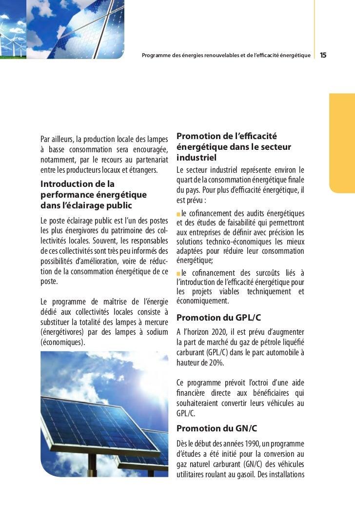16     ont été réalisées par Sonelgaz pour la Par ailleurs, le champ de capteurs solaires     distribution de ce carburant...