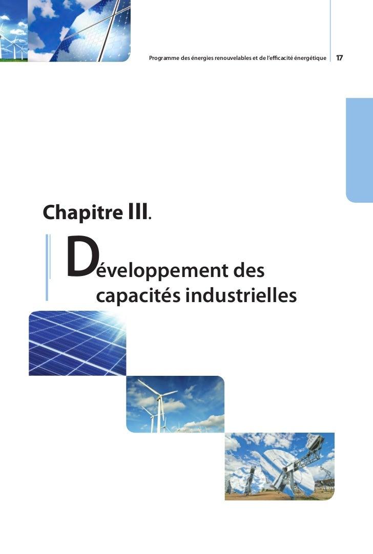 18     Pour accompagner et réussir le programme     des énergies renouvelables, l'Algérie envisage     de renforcer le tis...