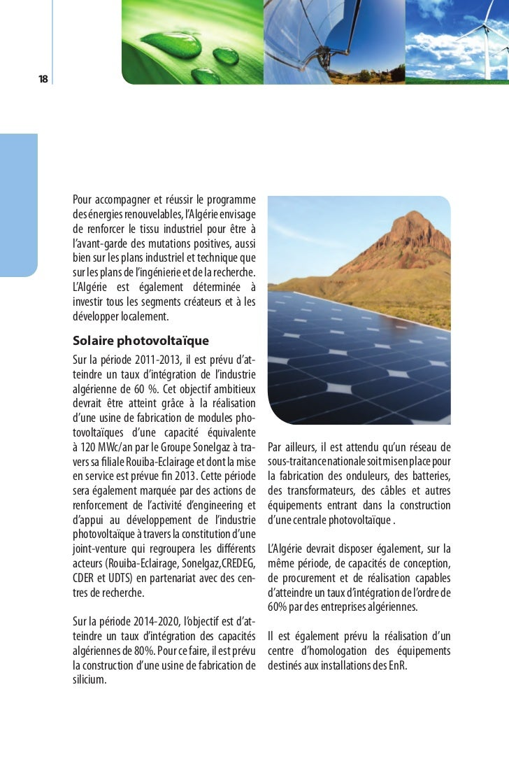 Programme des énergies renouvelables et de l'efficacité énergétique   19Sur la période 2021-2030, l'objectif estd'atteindr...