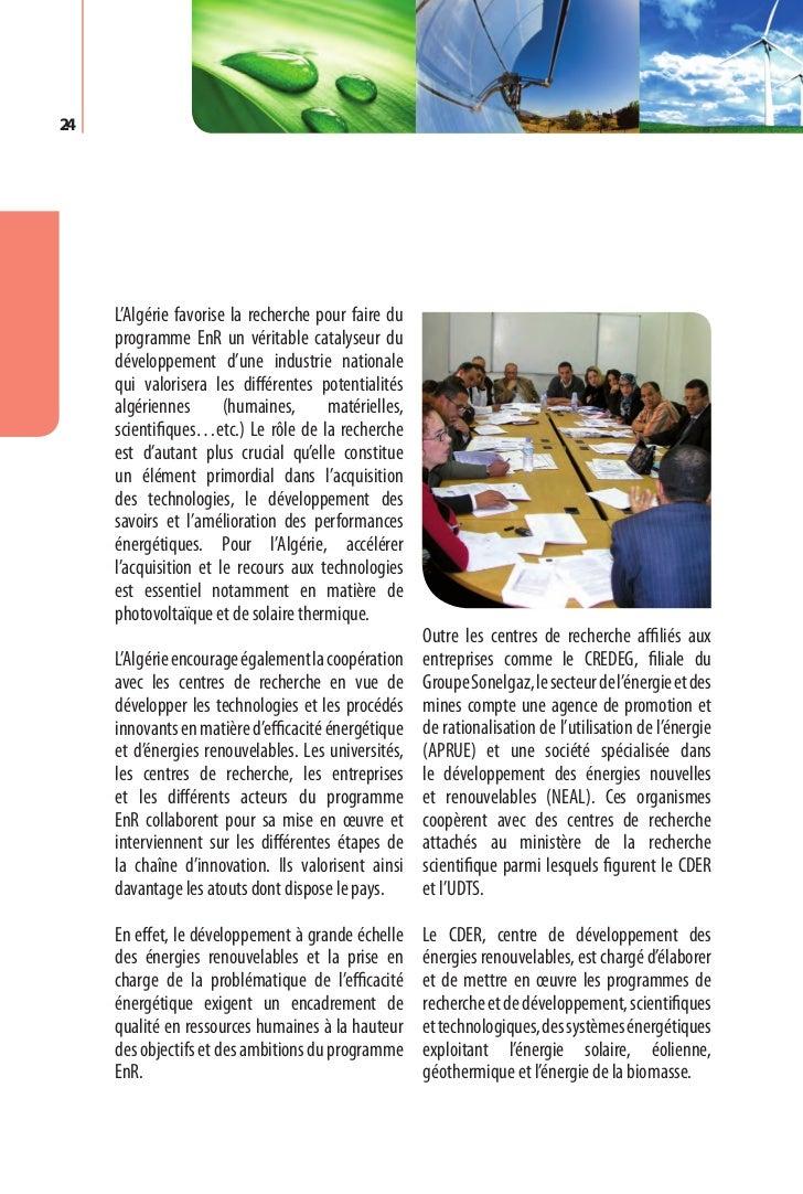Programme des énergies renouvelables et de l'efficacité énergétique   27Chapitre V.  C  adre juridique     et mesures inci...