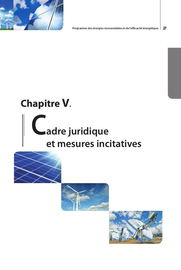 Programme des énergies renouvelables et de l'efficacité énergétique   31GlossaireAPRUEAgence de promotion et de rationalis...