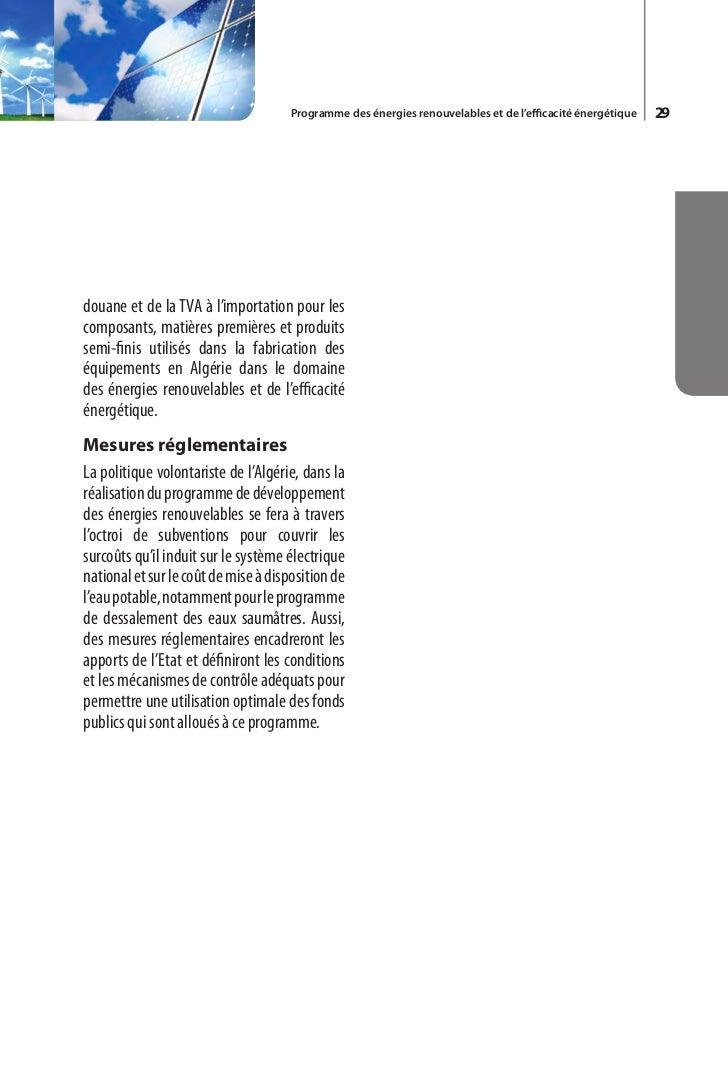Programme des énergies renouvelables et de l'efficacité énergétique   33Kilowattheure (kWh)Unité de mesure de travail et d...