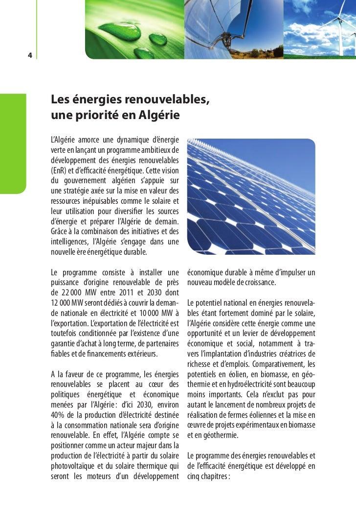Programme des énergies renouvelables et de l'efficacité énergétique   5  les capacités à installer par domaine           d...
