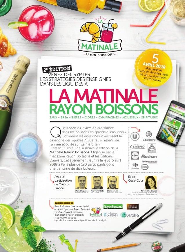 Benoît Moreau, directeur éditorial et développement Rayon Boissons Laurène Chauvel, assistante événements Rayon Boissons +...