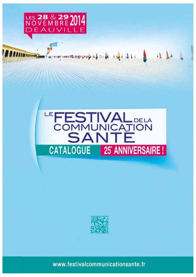 Catalogue  du Festival de la Communication Santé 2014