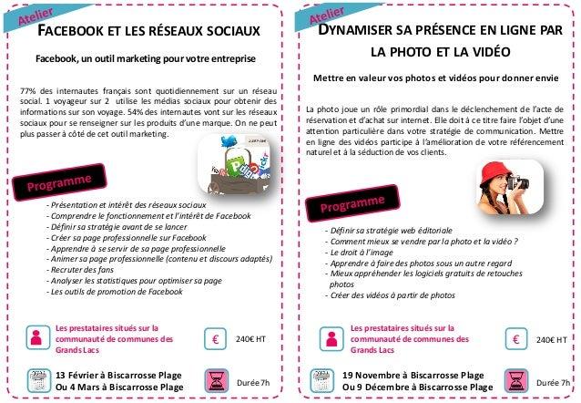 FACEBOOK ET LES RÉSEAUX SOCIAUX Facebook, un outil marketing pour votre entreprise  DYNAMISER SA PRÉSENCE EN LIGNE PAR LA ...