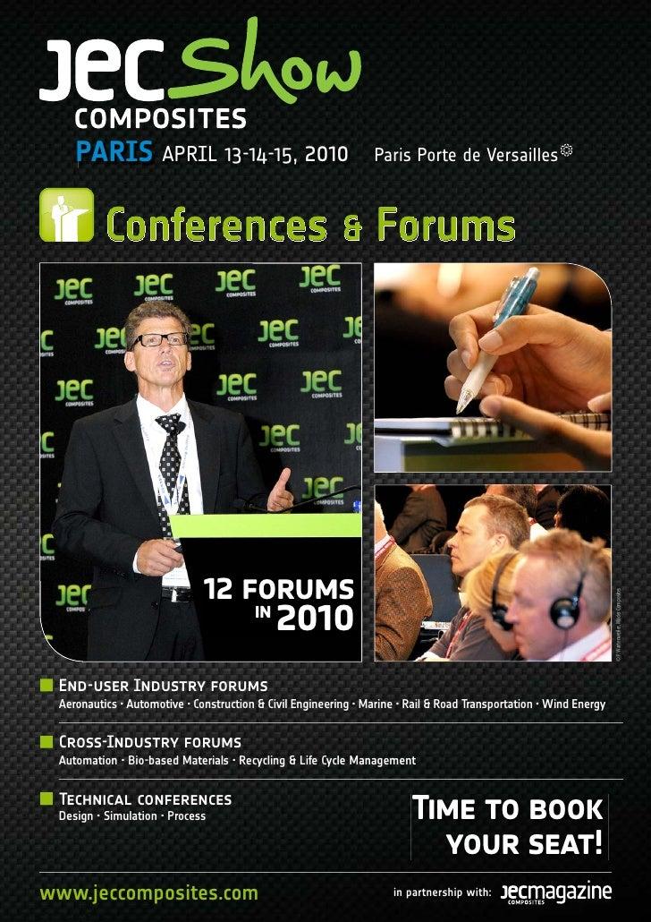 PARIS APRIL 13-14-15, 2010                                  Paris Porte de Versailles              Conferences & Forums   ...