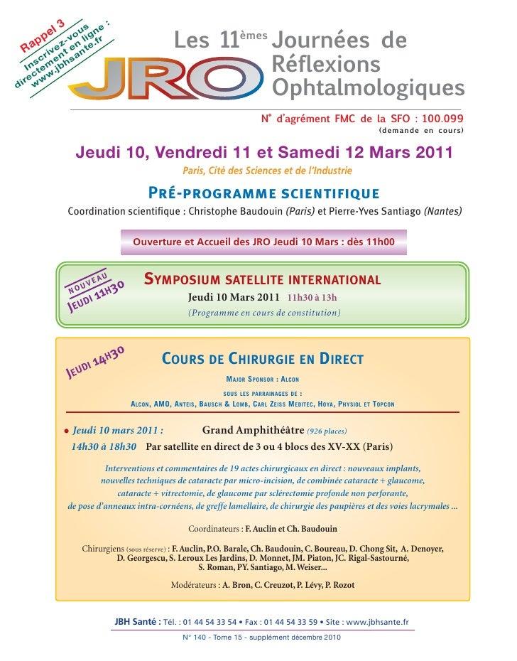 Programme jro